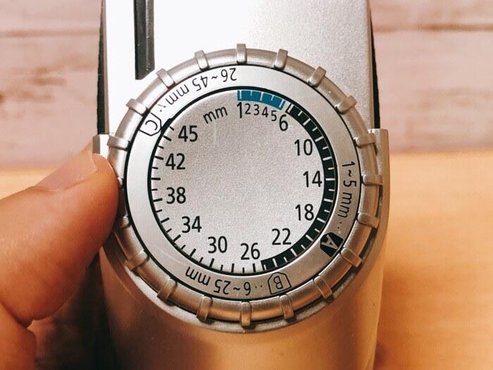 パナソニックバリカンER-GC70-Sは1mm単位で調節可