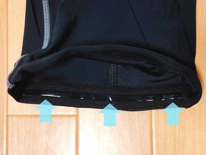 サイトウインポート saitoimport3Dパッドレーサーパンツの裾には滑り止めが装着