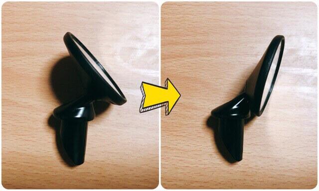 キャットアイバーエンドミラーの角度調整