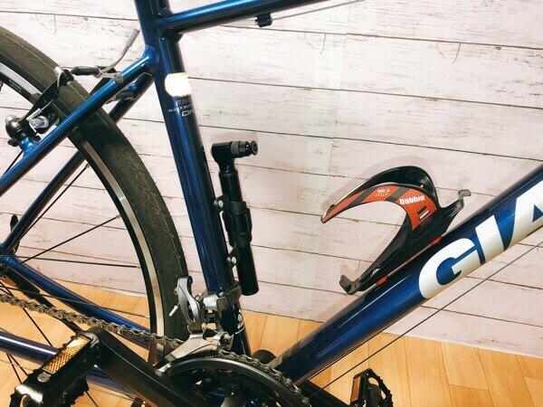 LANDCAST自転車空気入れマジックポンプはフレームに取り付け可能