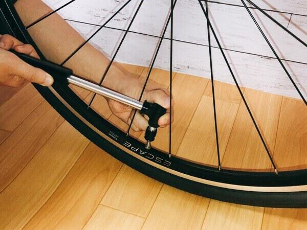 LANDCAST自転車空気入れマジックポンプは高圧まで空気がしっかり入る