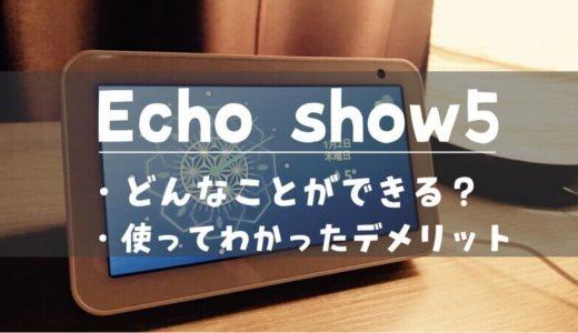 Echo Show 5は何ができる?使い込んでわかったことからデメリットまでを解説