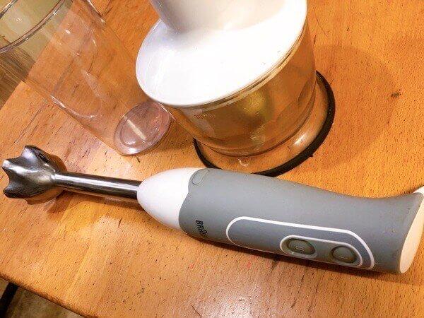 ブラウン ハンドブレンダー マルチクイック5 1台4役 つぶす・混ぜる・きざむ・泡立てる ホワイト 離乳食対応 MQ535