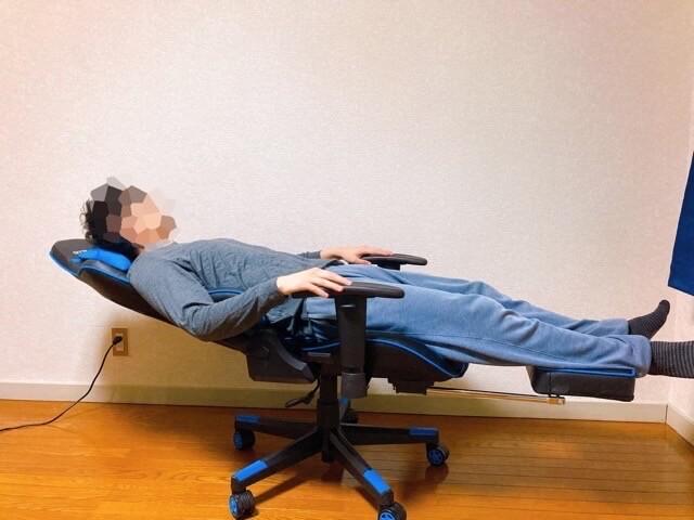 GTRACINGゲーミングチェア オットマンとリクライニングで本当に寝れる