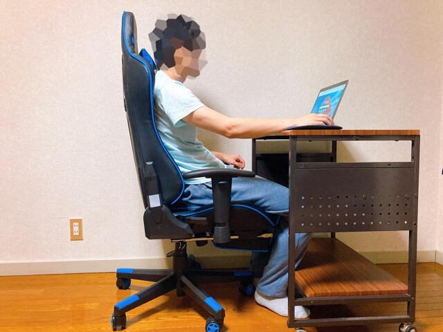GTRACINGゲーミングチェア オットマンは長時間作業でも疲れない