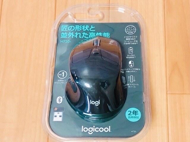 Logicool M720rの外観と付属品1