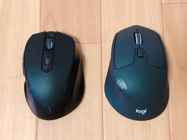 M720rマウスの重量やサイズ感2