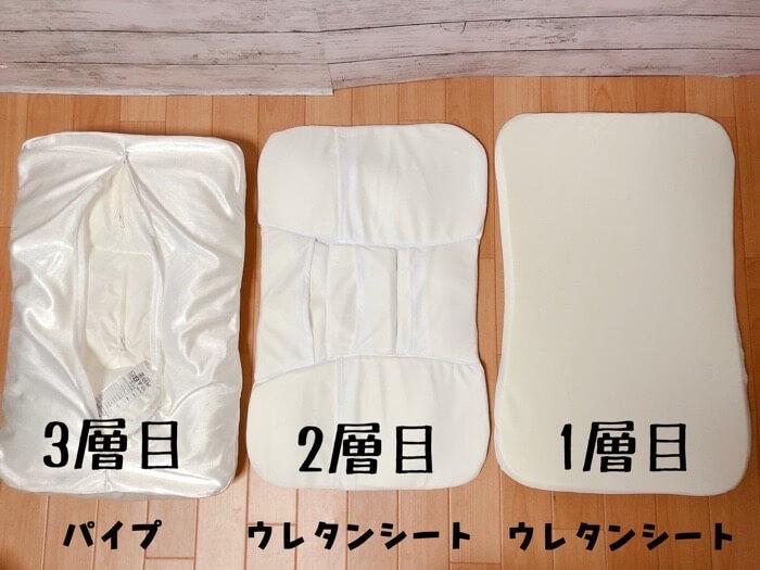 ニトリ 高さが10ヵ所調整できる枕の【高さ調整箇所とやり方】1