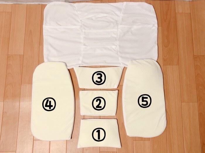 ニトリ 高さが10ヵ所調整できる枕の【高さ調整箇所とやり方】4