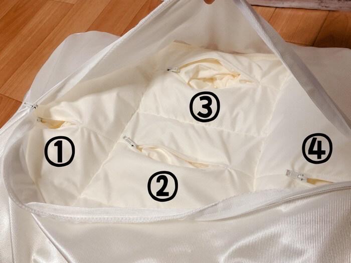 ニトリ 高さが10ヵ所調整できる枕の【高さ調整箇所とやり方】6