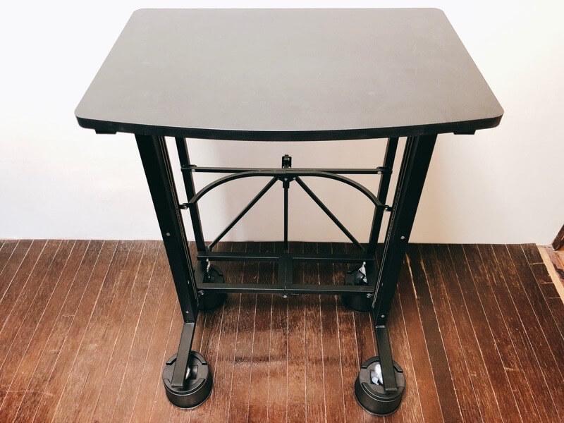 キャスター付きの机に継ぎ足しを使って高さを上げてみた2