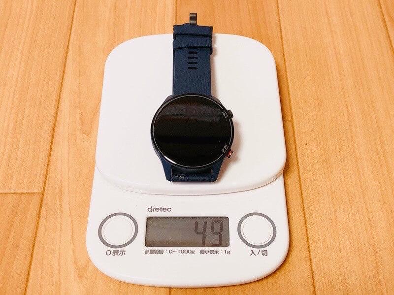 Mi Watchの本体の重量