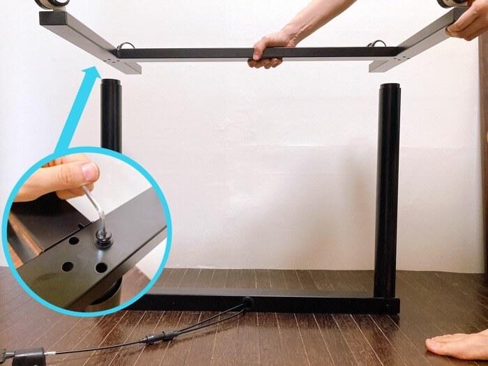 タンスのゲン スタンディングデスクの組み立て方は簡単で拍子抜けした2